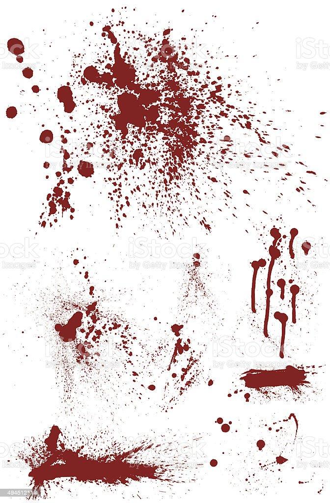 Bloodstain Set – Vektorgrafik