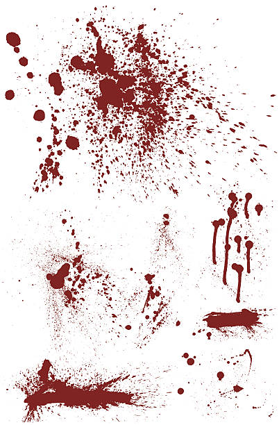 Bloodstain Set vector art illustration