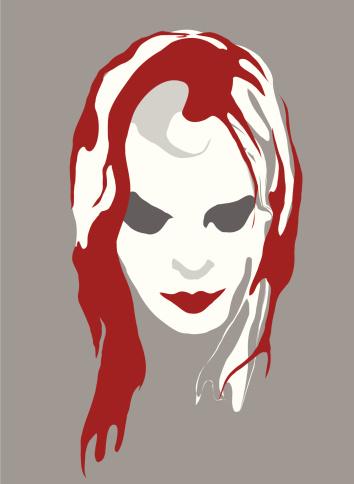 EMO Bloody Girl VECTOR