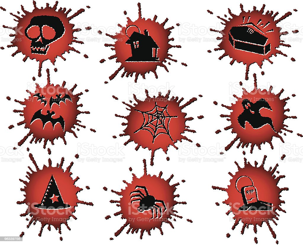 Bloody Halloween Icons royalty-free stock vector art