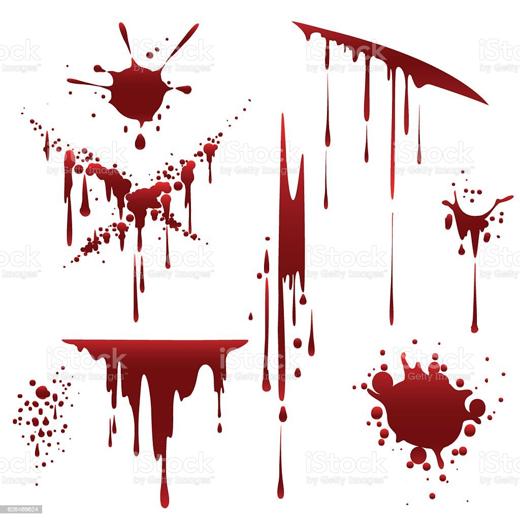Bloody horror scruffy splatter – Vektorgrafik