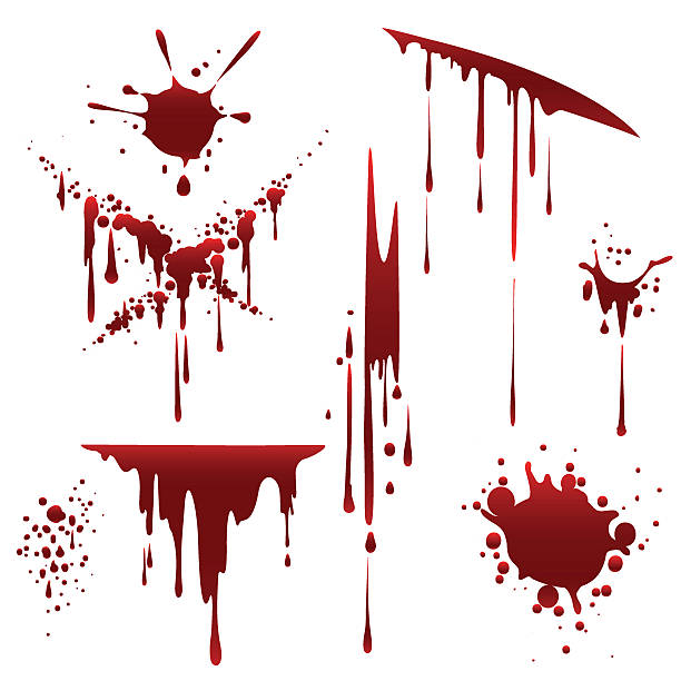 Bloody horror scruffy splatter vector art illustration