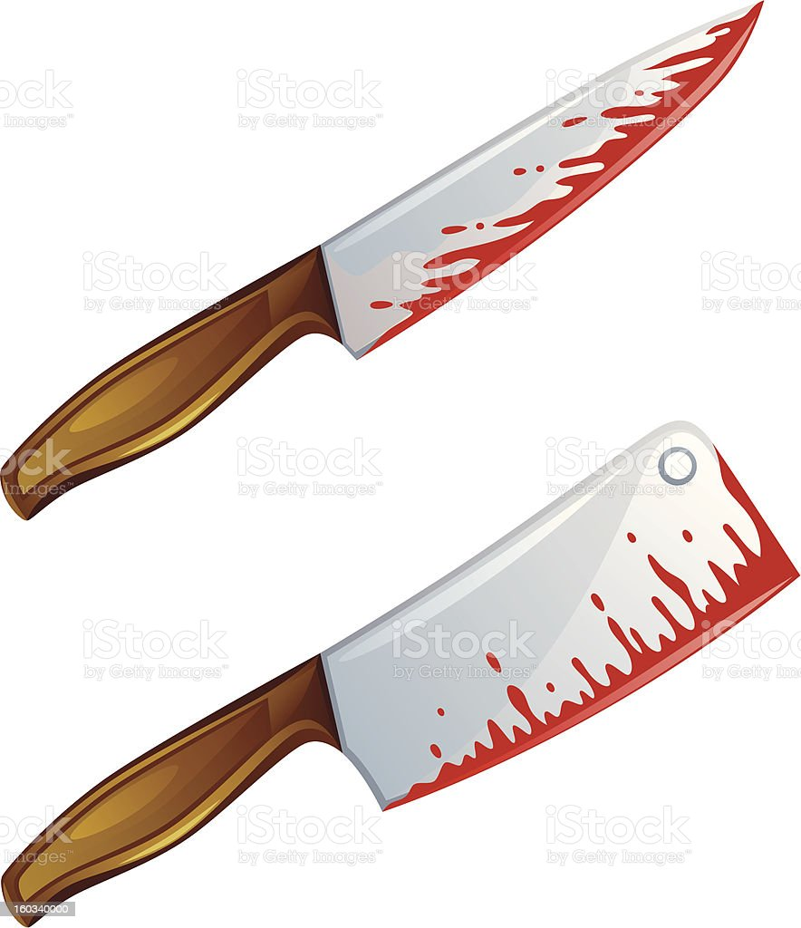 Bloody knife royalty-free stock vector art