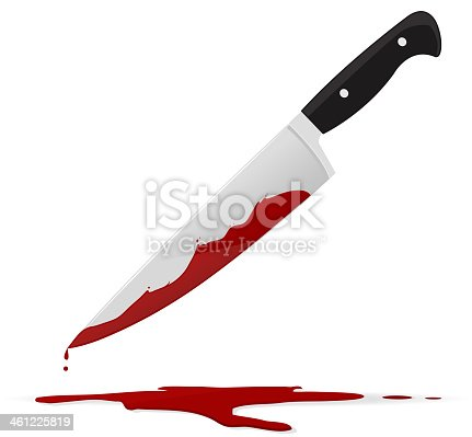 Knife with blood on it