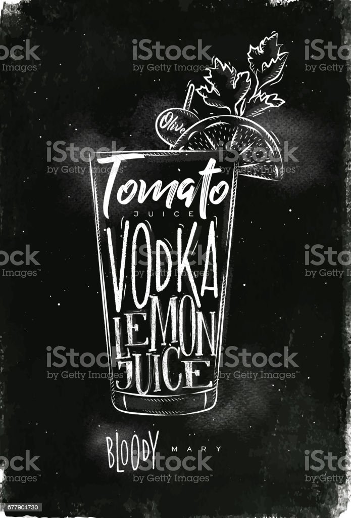 Bloody mary cocktail chalk royalty-free bloody mary cocktail chalk stock vector art & more images of alcohol