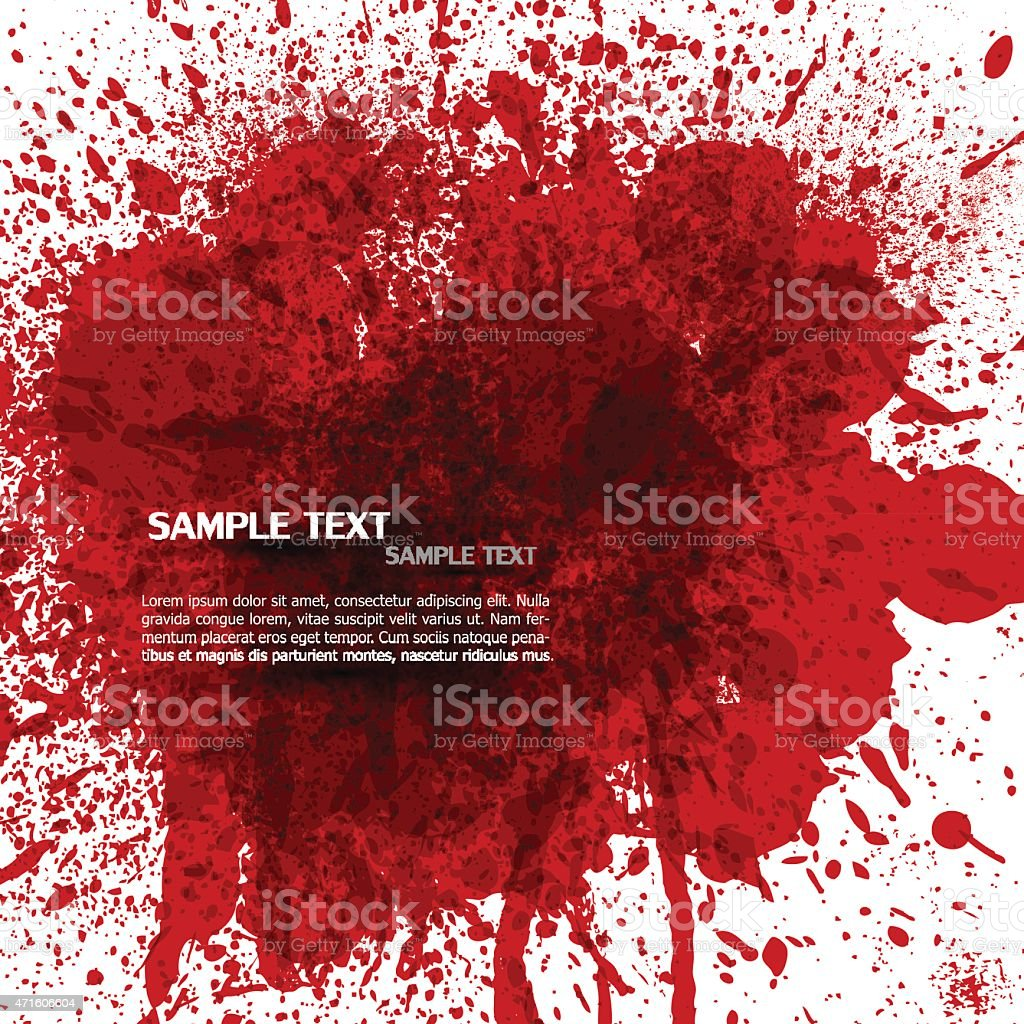 Bloody splashes vector art illustration