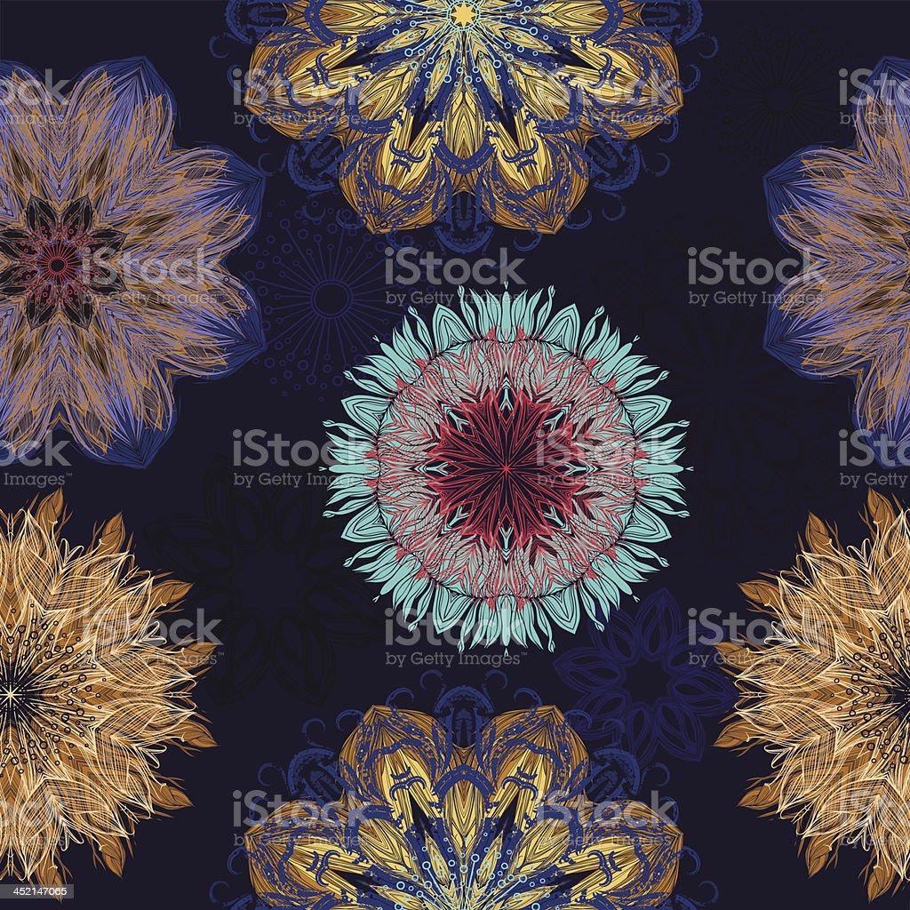Bloom splash mandala royalty-free stock vector art