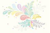 Vector illustration of blooming pastel flower background abstract style.