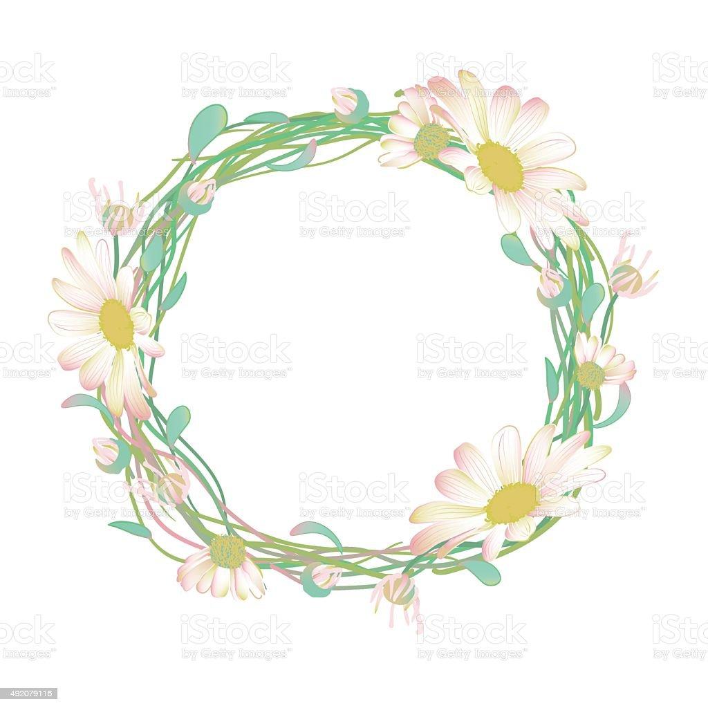 Daisy flower clip art wreath world wide clip art website blooming and budding daisy flowers wreath stock vector art more rh istockphoto com daisy clip art outline daisy clip art outline izmirmasajfo