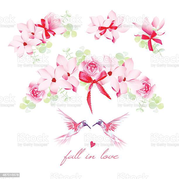 Blooming bouquets birds and bows vector design elements set vector id487015578?b=1&k=6&m=487015578&s=612x612&h=tbjxoo02k3mygahjaqffq4l xyebwy2e0itjeg7j 24=