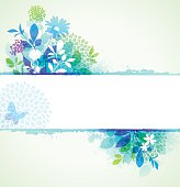 Spring frame with leaves, flowers and grunge texture. EPS10 file contains transparencies. Global colors used.  Hi res jpeg included. Scroll down to see more of my illustrations.
