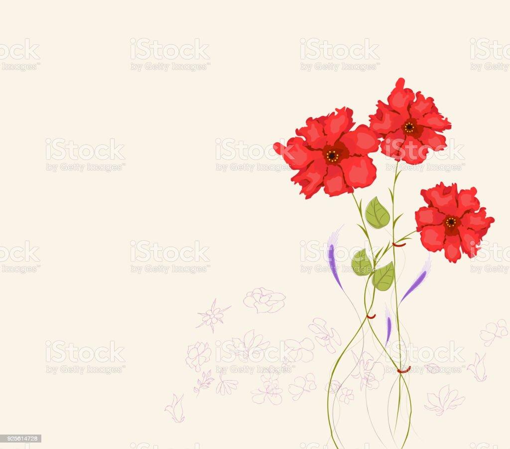 printemps fleuri fleurs printemps bouquet de fleur carte de voeux cliparts vectoriels et plus. Black Bedroom Furniture Sets. Home Design Ideas