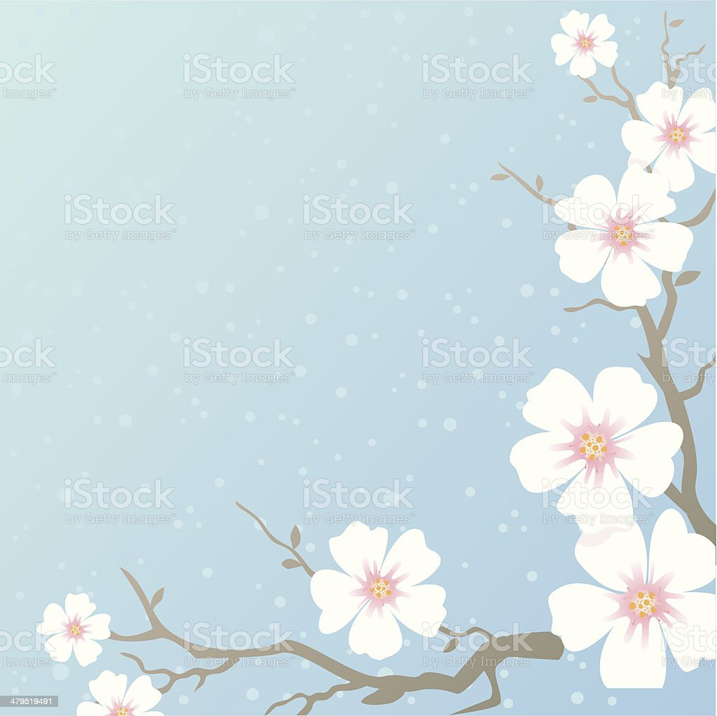 Blooming tree royalty-free stock vector art