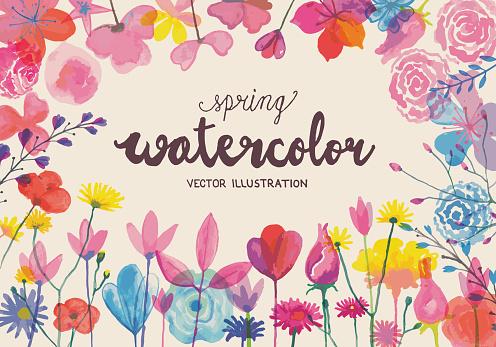 Blooming watercolors
