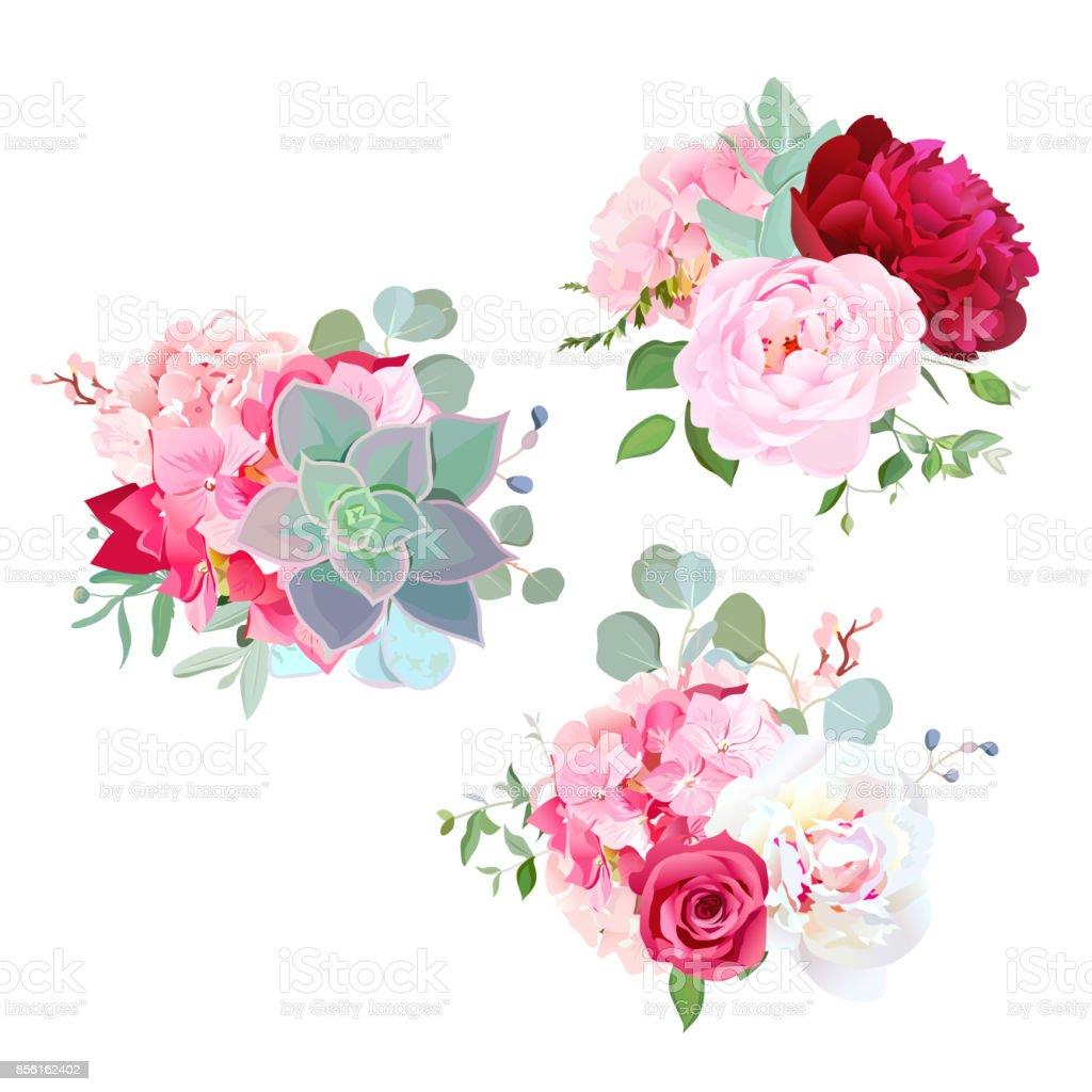 Fleurs de mariage fleurs bouquets de dessin vectoriel - Dessins de bouquets de fleurs ...