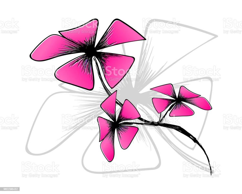 Blossom bloom on white backgroundpink flower draw with art lineart blossom bloom on white backgroundpink flower draw with art lineart line vector mightylinksfo