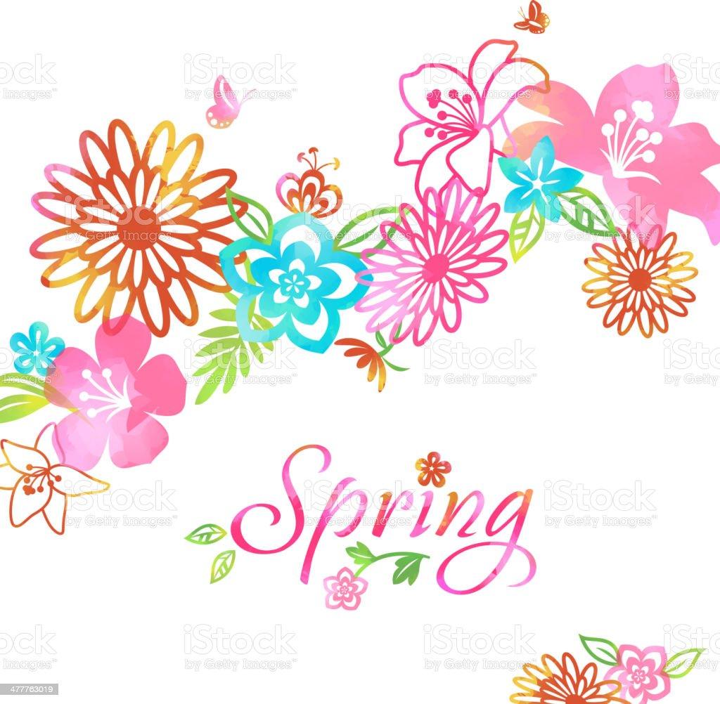 花と春の花の記号 - イラストレーションのベクターアート素材や画像を