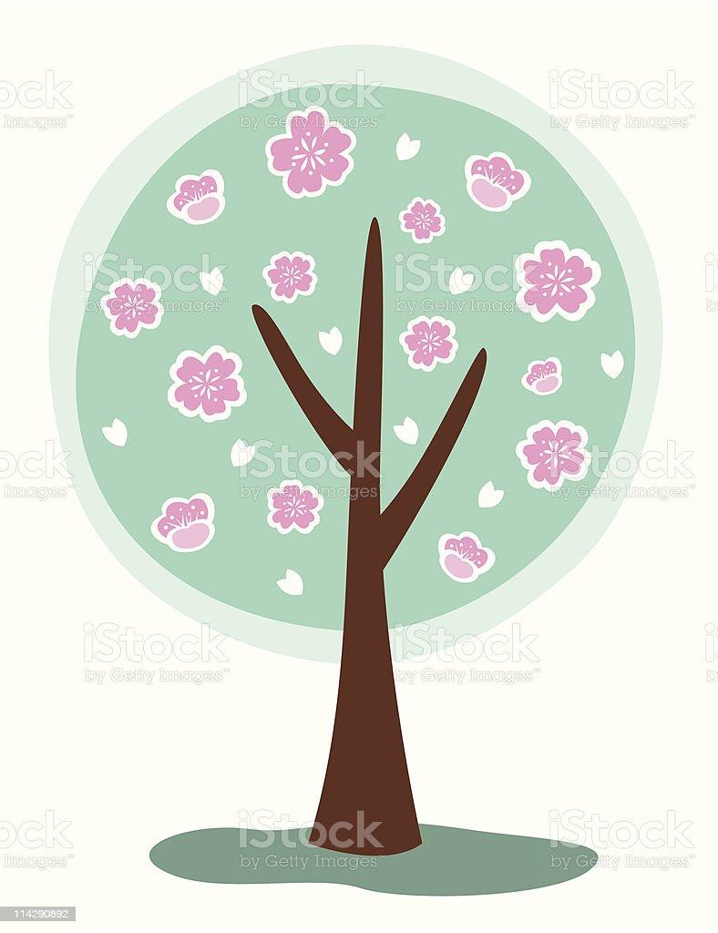 Blossom sakura Tree royalty-free stock vector art