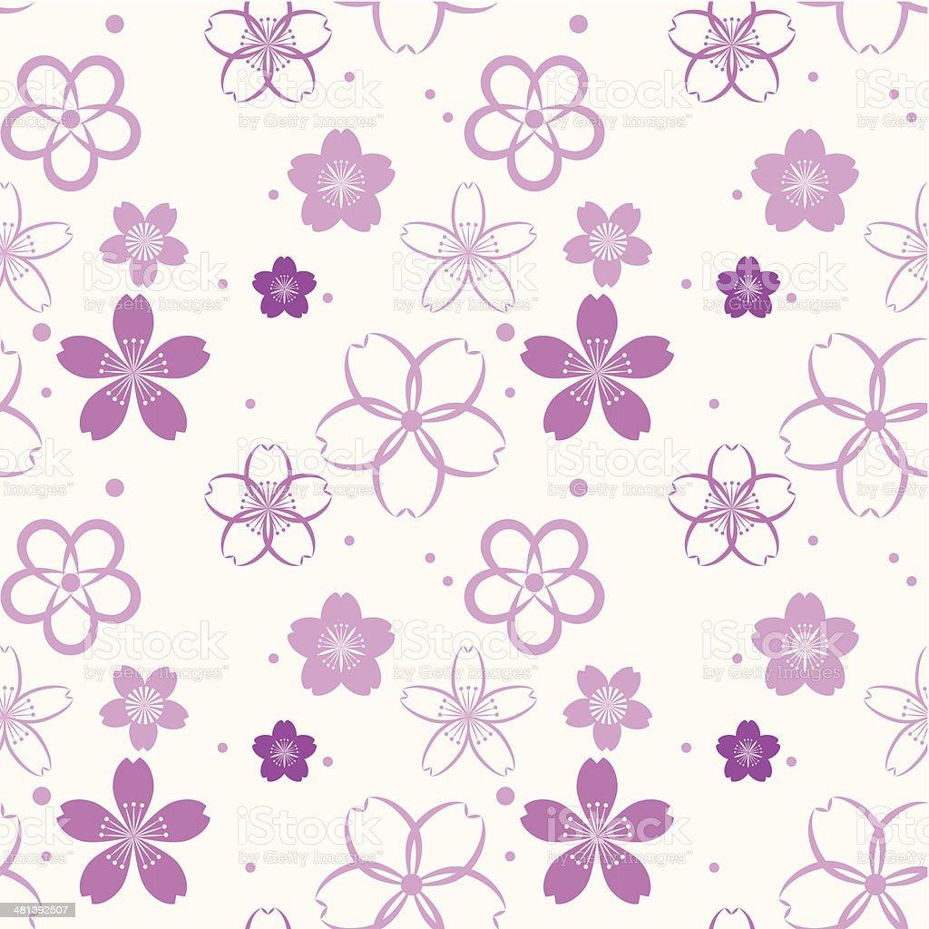 Blossom seamless pattern royalty-free stock vector art