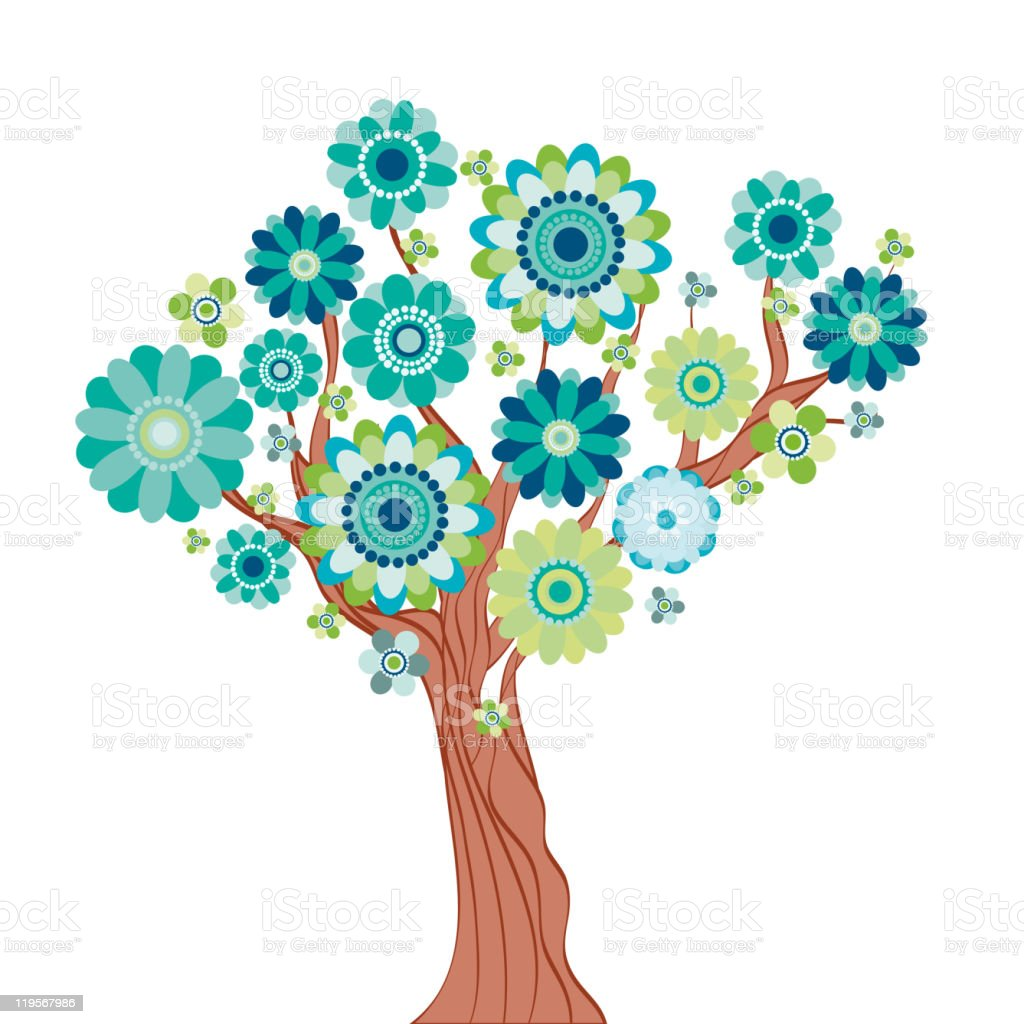 Blossom Tree. royalty-free blossom tree stock vector art & more images of abstract