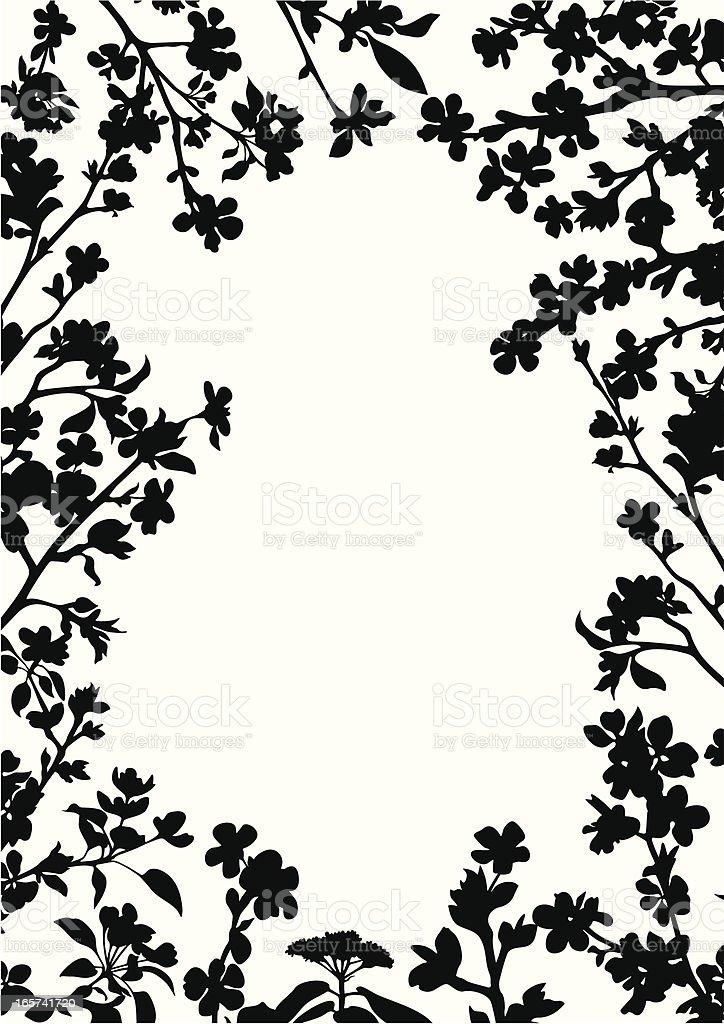 Blossomed frame royalty-free stock vector art