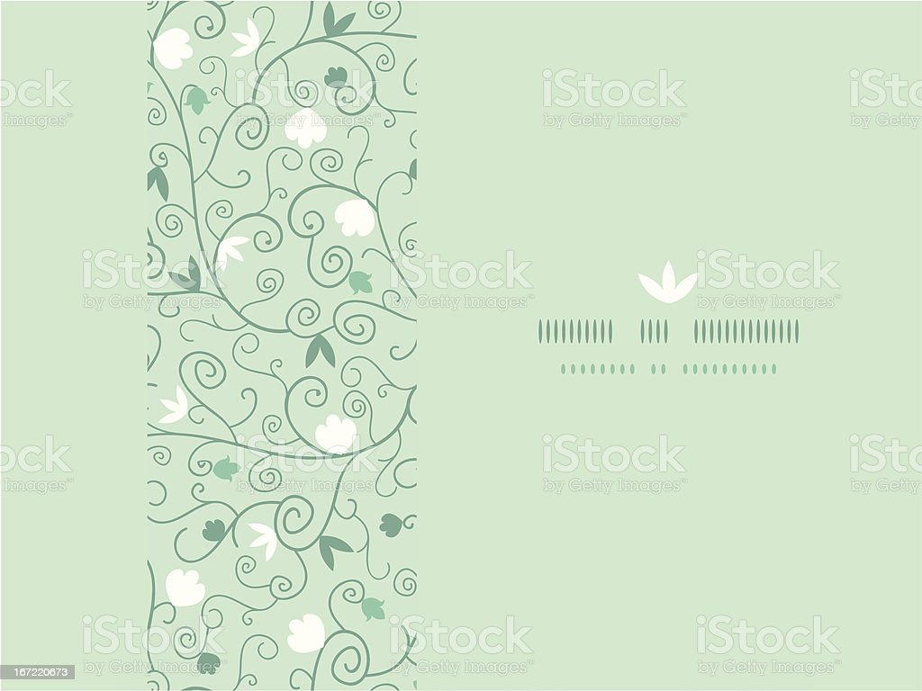 Blossoming  Branches Horizontal Seamless Pattern Background royalty-free stock vector art