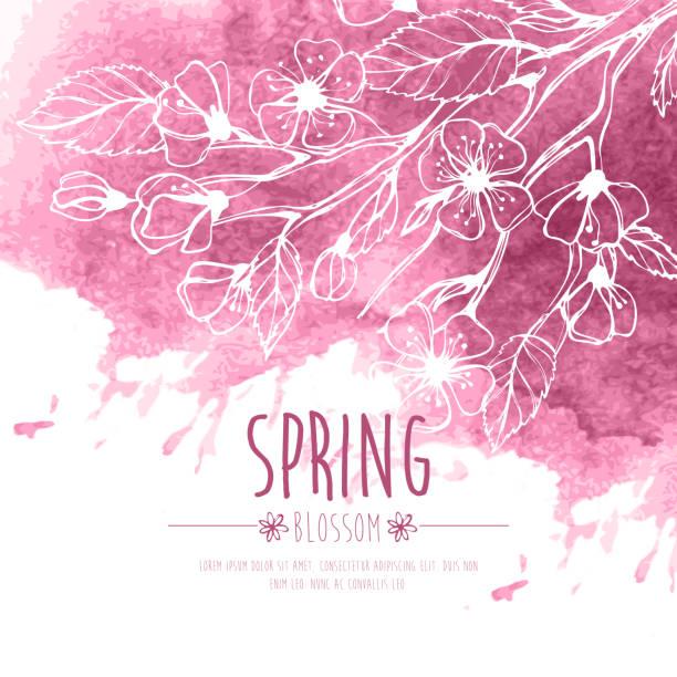 Blossoming Spring Branch. Vector illustration vector art illustration