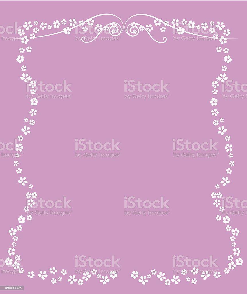 Cadre de fleurs (vecteur - Illustration vectorielle