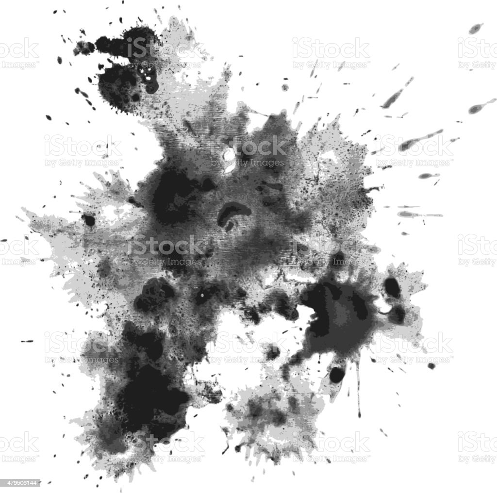 Blots vector art illustration