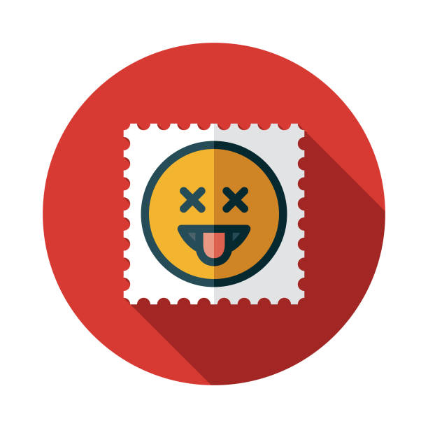 LSD Blotter Paper Drug Icon A flat design icon with a long shadow. File is built in the CMYK color space for optimal printing. Color swatches are global so it's easy to change colors across the document. acid stock illustrations
