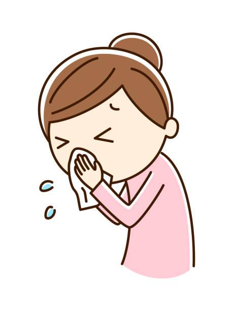 bildbanksillustrationer, clip art samt tecknat material och ikoner med blåsa en näsa - sneezing