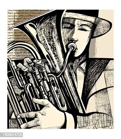 istock Blow the euphonium 1305614723
