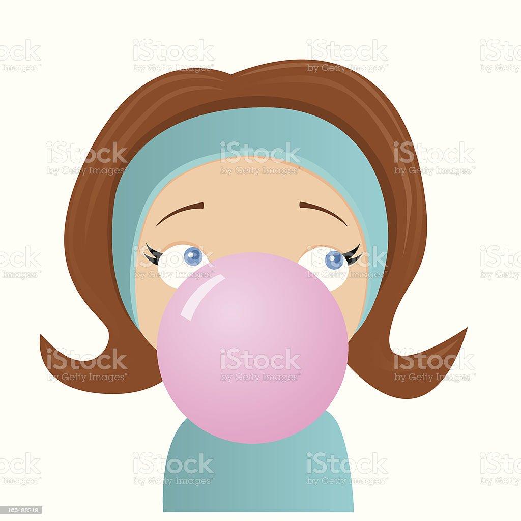 Blowing Bubbles vector art illustration
