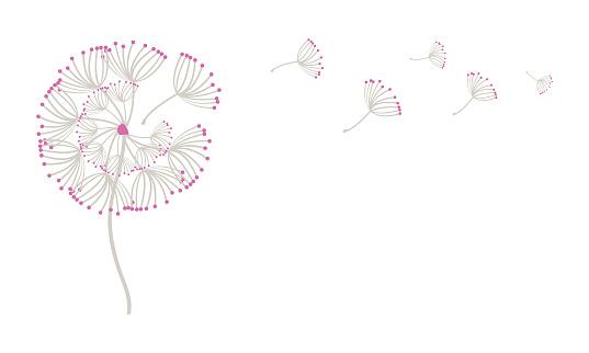 Blowing Dandelion in the Wind