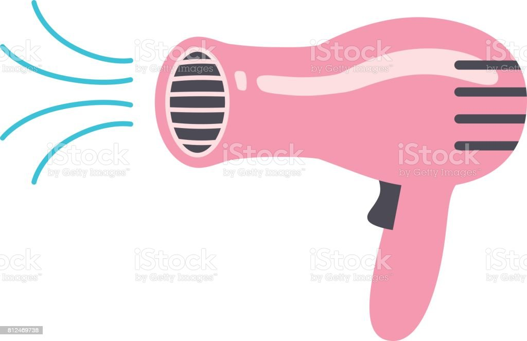 royalty free hair dryers clip art vector images illustrations rh istockphoto com hair blow dryer clipart blow dryer clipart