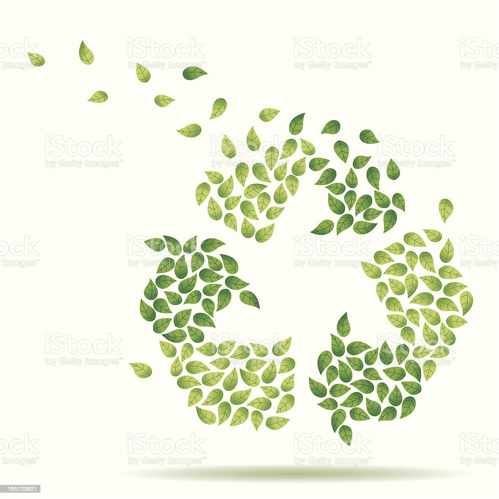 Blown away Recycling royalty-free stock vector art