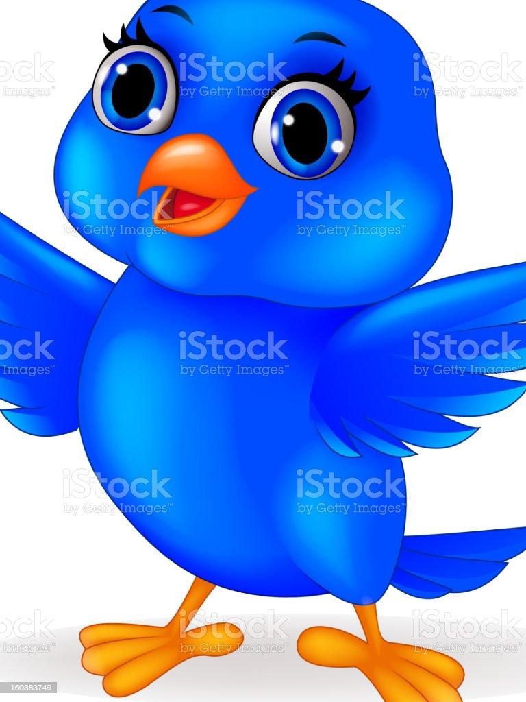 Blu bird cartoon royalty-free stock vector art