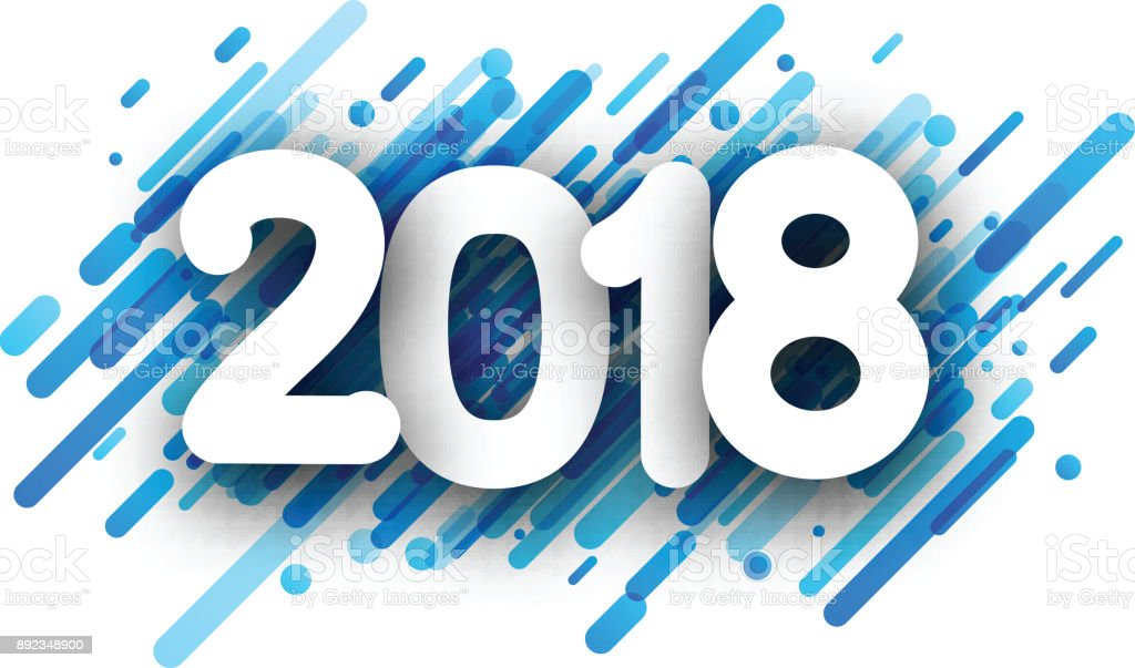 blue 2018 new year background royalty free blue 2018 new year background stock vector