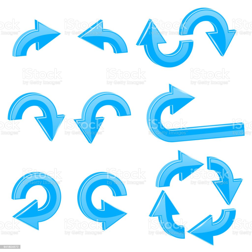 Blue 3d arrows different directions stock vector art more images different directions royalty free blue 3d arrows different directions stock vector publicscrutiny Images