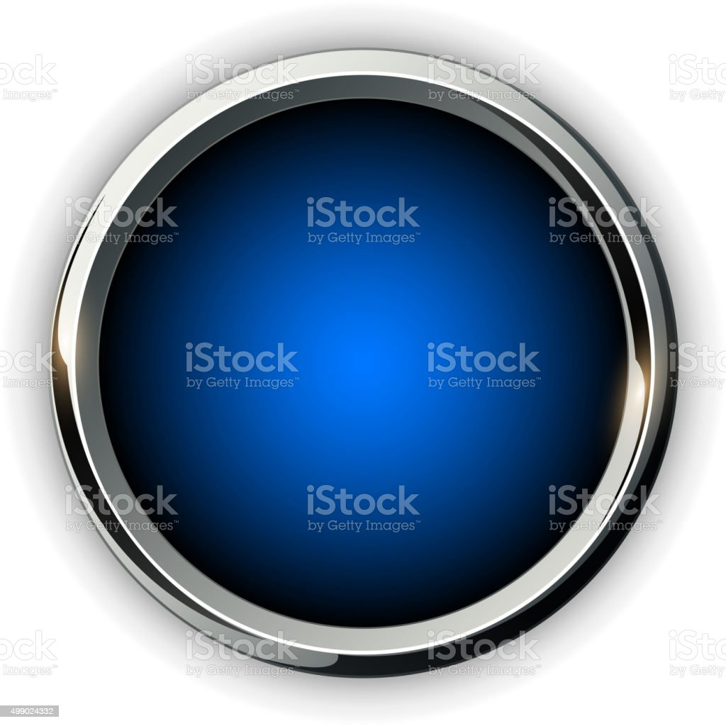 Blue 3d Button Stock Illustration