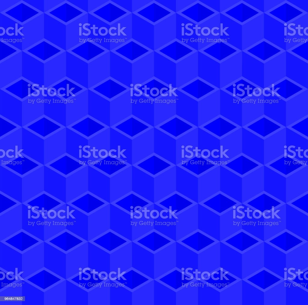 Blue 3D cube illustration background. royalty-free blue 3d cube illustration background stock vector art & more images of abstract