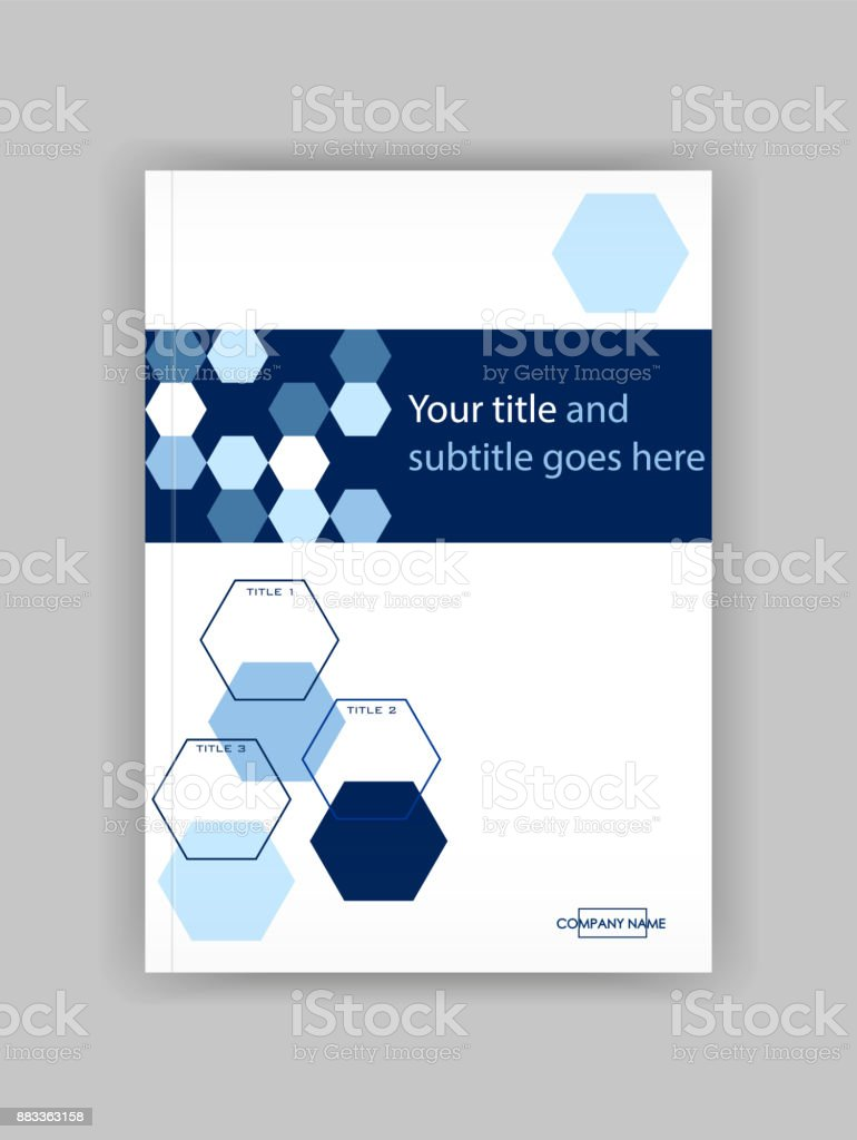 Blau A4 Business Book Cover Designvorlage Gut Für Portfolio ...
