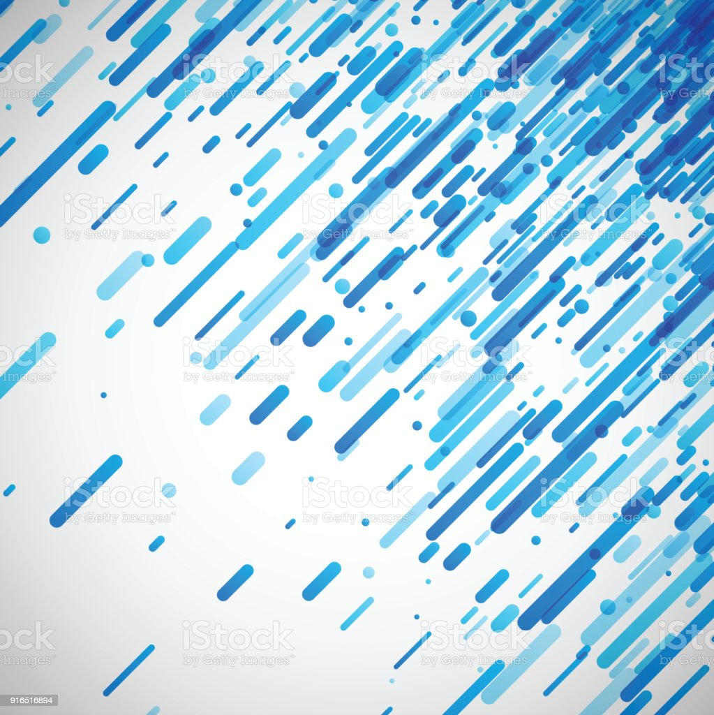 Blue Abstract Background On White Stock Illustration