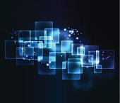 Blue abstract background. EPS10. Contains transparent elements.