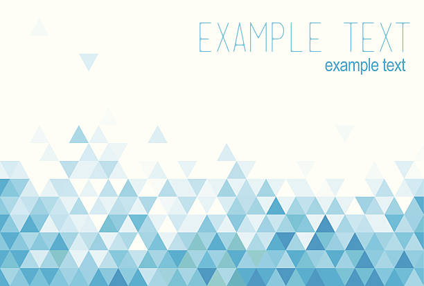 Blue abstract background Blue abstract background, triangle two dimensional shape stock illustrations