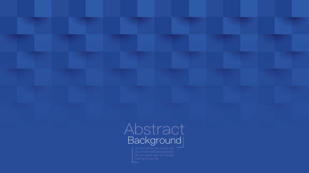 illustrazioni stock, clip art, cartoni animati e icone di tendenza di blue abstract background vector. - square
