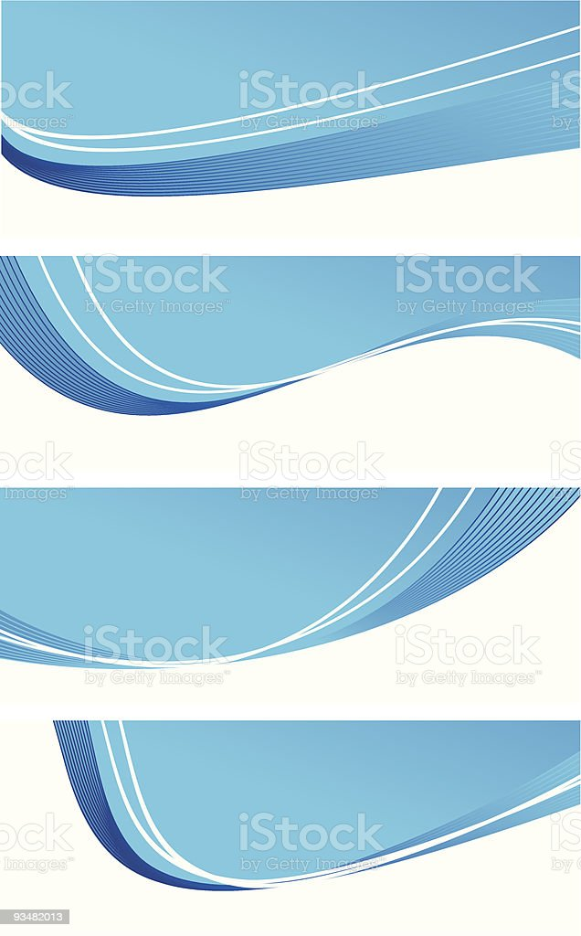 Blue abstract banners royalty-free stock vector art