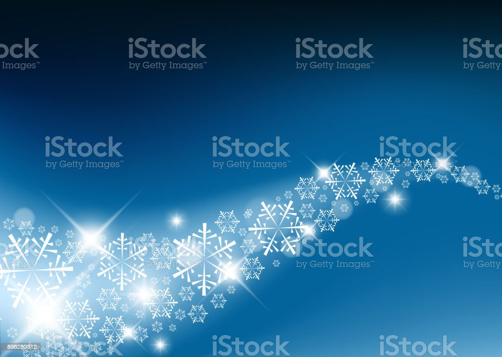 Blue Abstract Christmas background vector art illustration