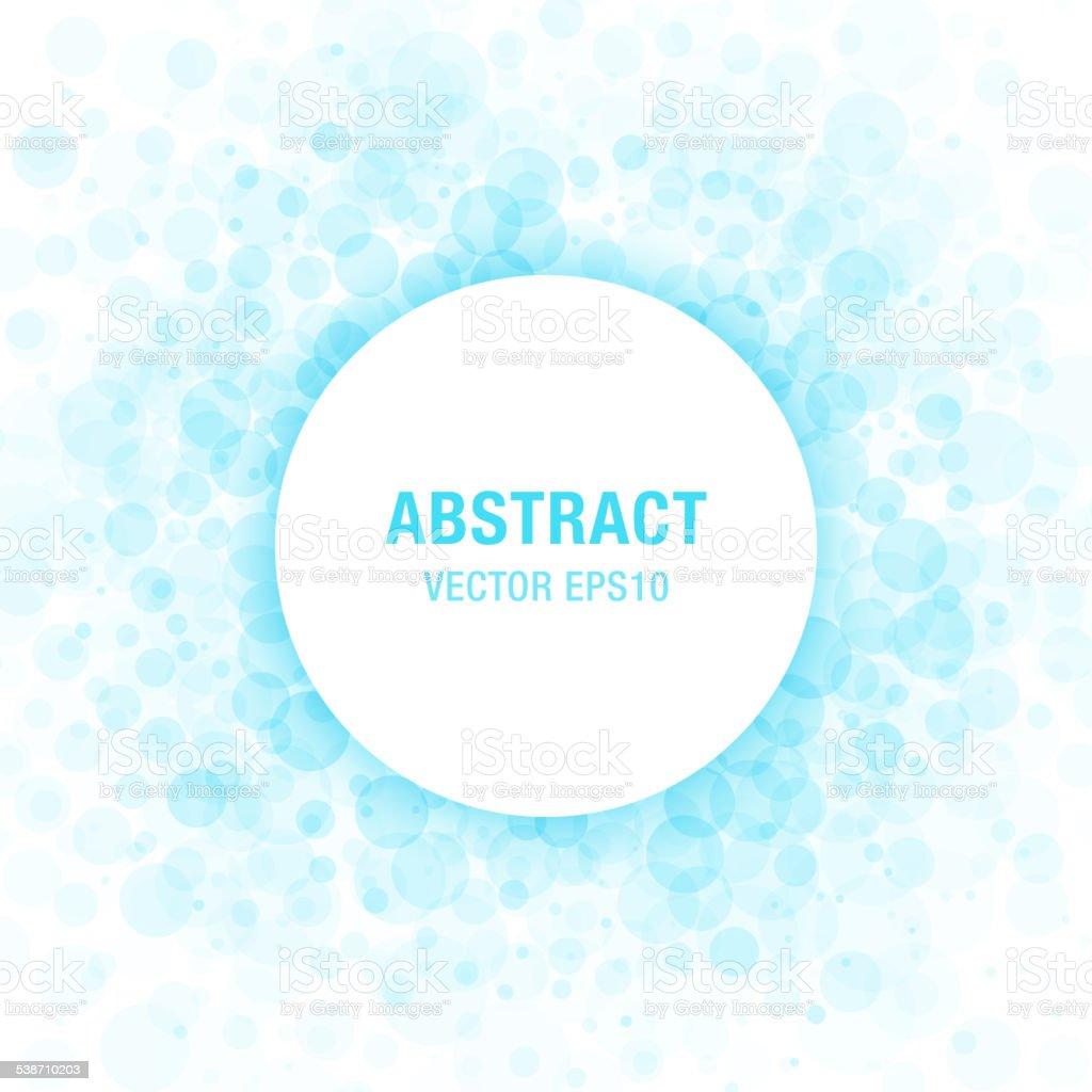 Blue Abstract Circle Frame Design Element vector art illustration