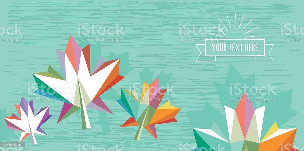 Blaue abstrakte flache bunte Herbst-illustration mit vintage-Abzeichen – Vektorgrafik